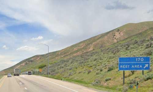 ut i80 utah echo canyon rest area eastbound mile marker 170