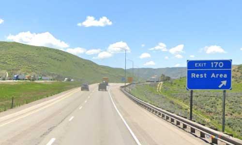 ut i80 utah echo canyon rest area westbound mile marker 170